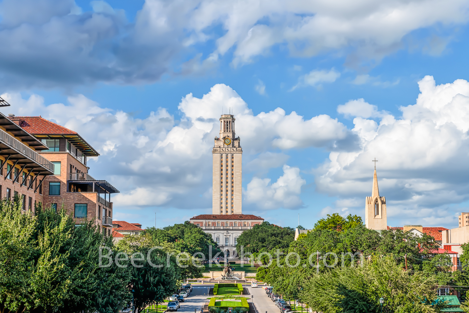 University of Texas Tower  - This was the perfect day to capture this image of the UT Tower in downtown Austin Texas.The tower...