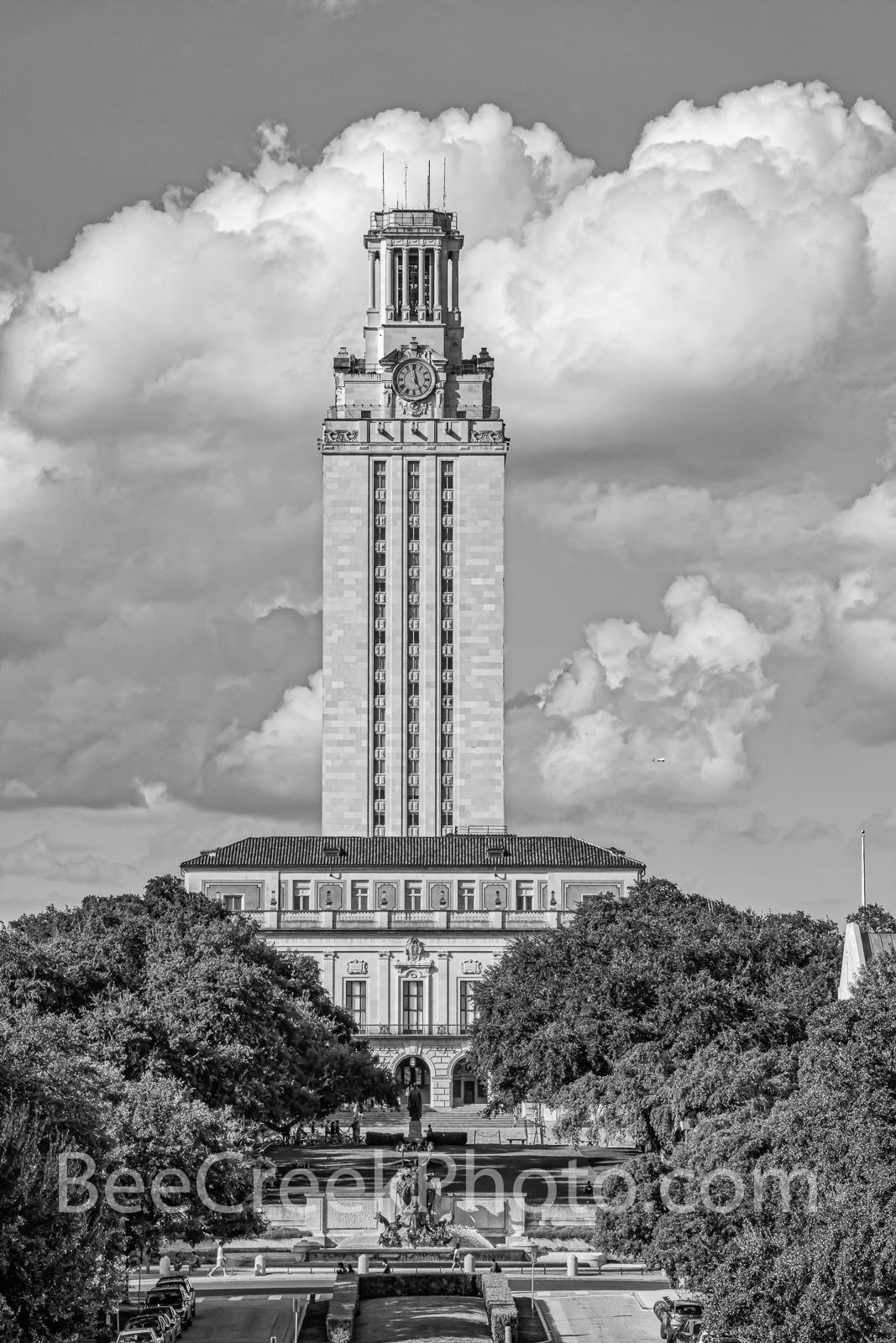 texas, ut, tower, austin, landmark, austin downtown, austin texas, city of austin, cityscape, cityscapes, verticle, bw, black and white, city, library, campus, administration, school, university, aust, photo