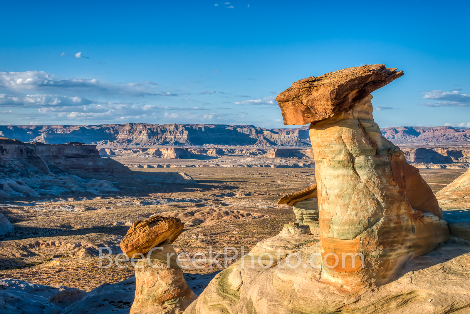 Utah Hoodoos - These hoodoos knows as Stud Horse Point which seem to be dangling over the edge over looking this valley below...