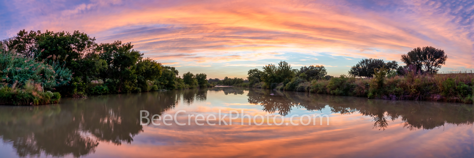 Vibrant Texas Hill Country Sunset Panorama - This was one of those wow sunset captures Texas hill country sunset panorama along...