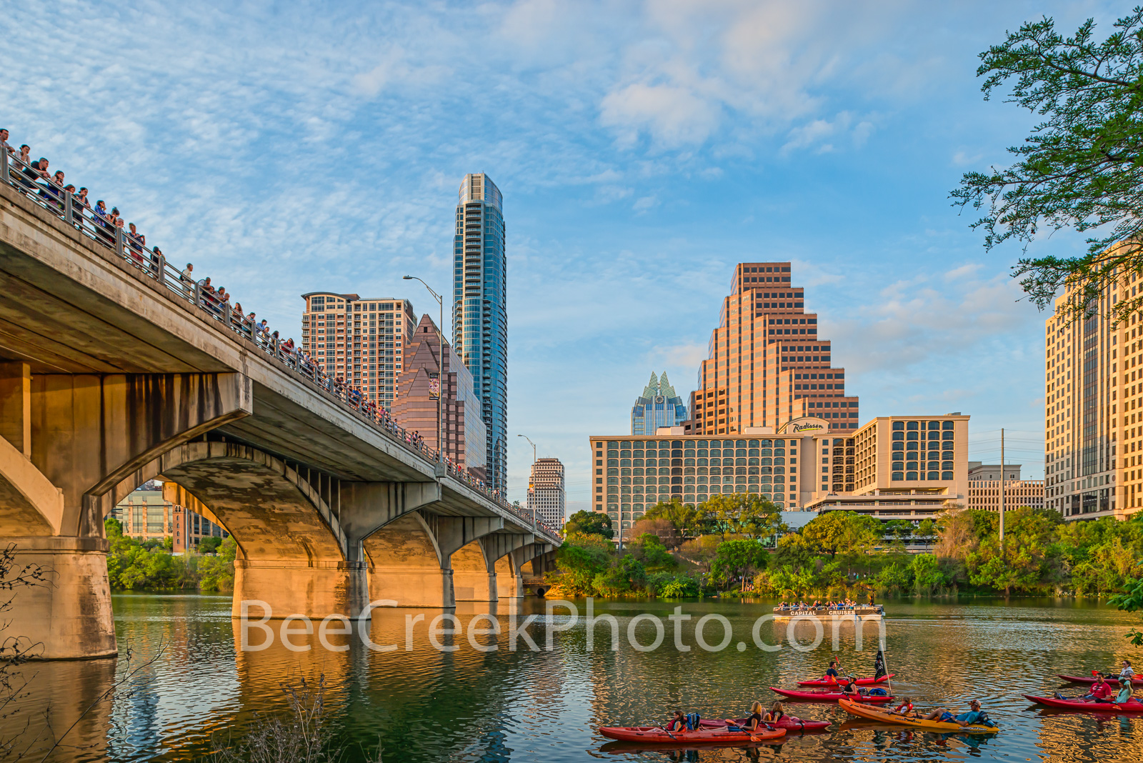 Waiting on the Bats  - This is the nightly bat watch that goes on in Austin Texas with people along the congress bridge and crowds...