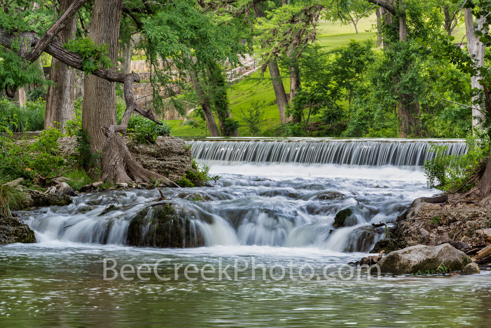 Waterfall Along the Guadalupe River - This is along the guadalupe river in the Texas hill country as the river twist and turn...