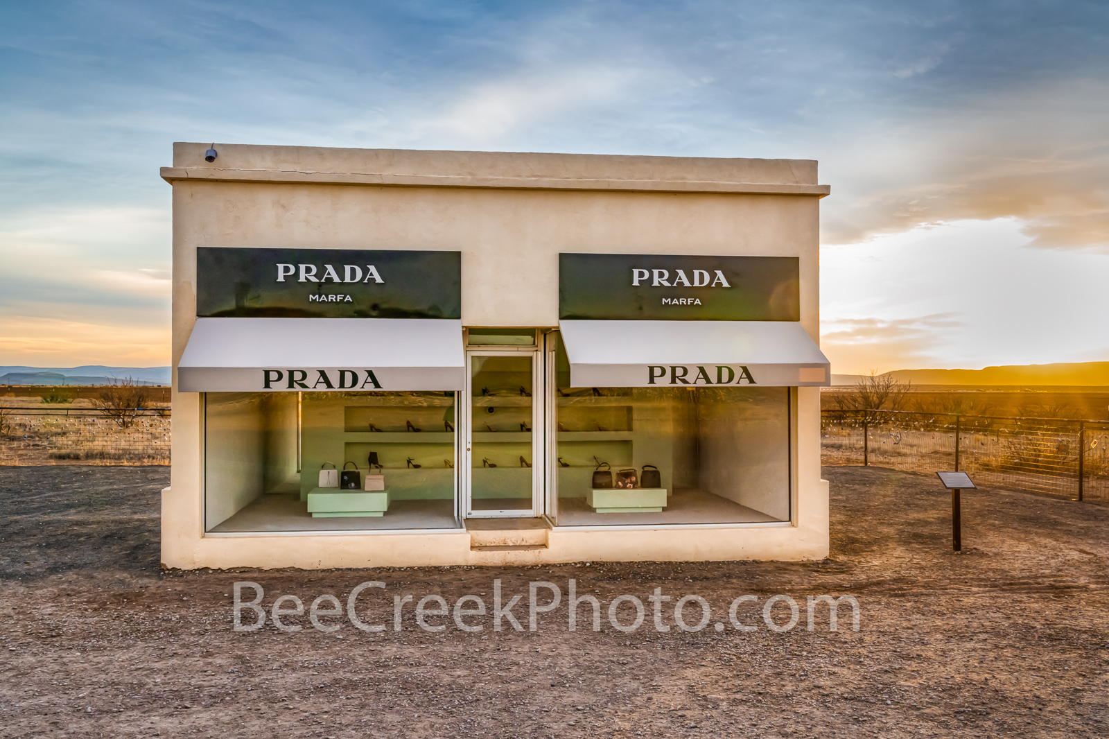 West Texas Prada  - This images captures the Marfa Prada exibit in Valentine Texas just as it sit right of the road. . Why it...