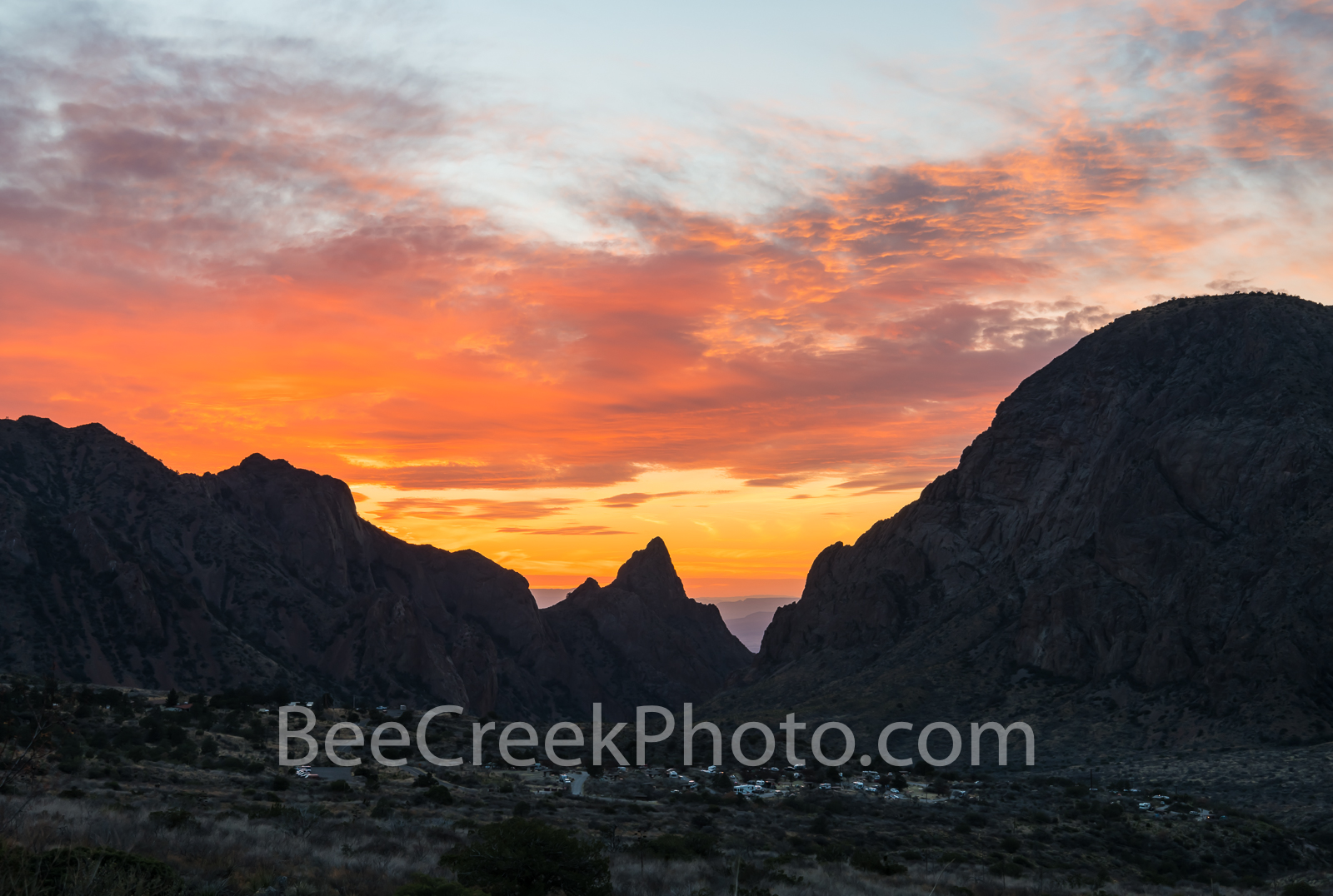 Window, sunset, chiso mountains, siloutte, fiery colors, window view, Big Bend National Park, evening, orange, Chiso mountains, Texas Sunset, Texas landscape, USA, United States, BeeCreekP, photo