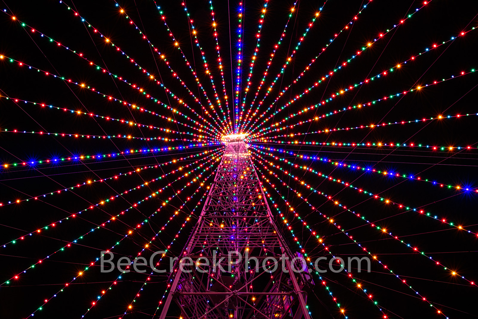 Zilker Christmas Tree Lights - These holiday lights were capture inside the Zilker Christmas Tree in the park. Zilker Christmas...